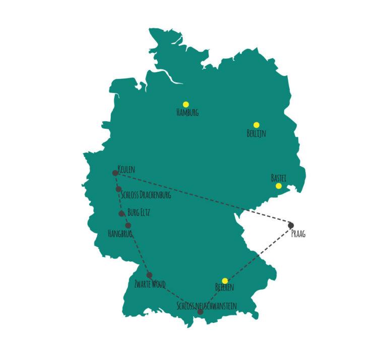Ultieme road trip route door Duitsland